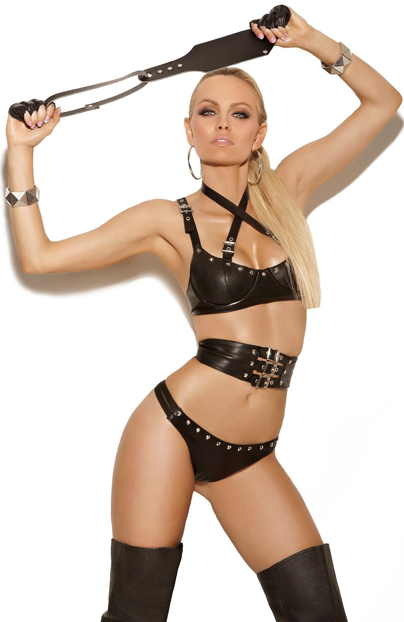 L1940 Leather bra set - Sexylingerieland