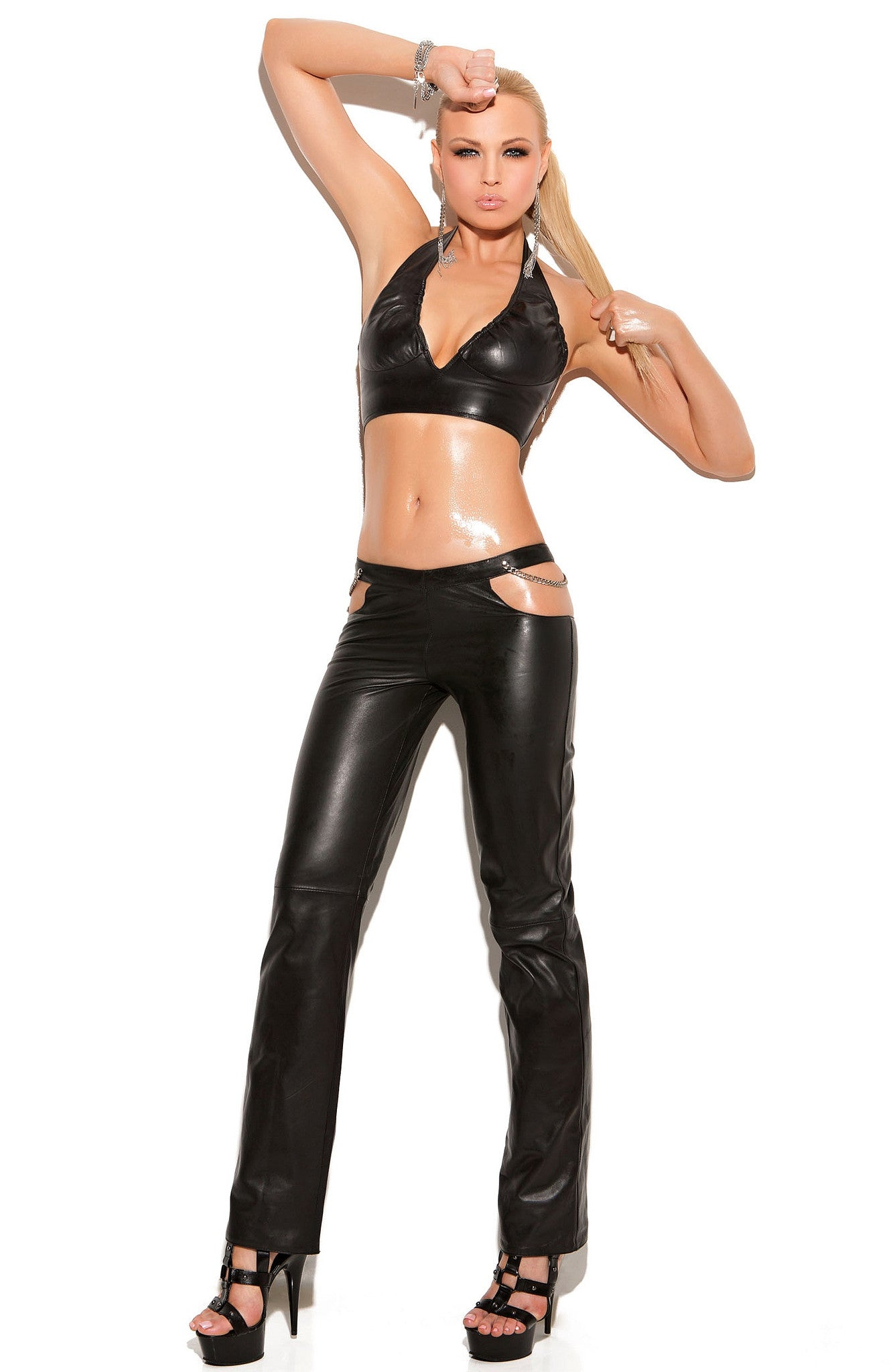 L4133 Leather top - Sexylingerieland  - 1