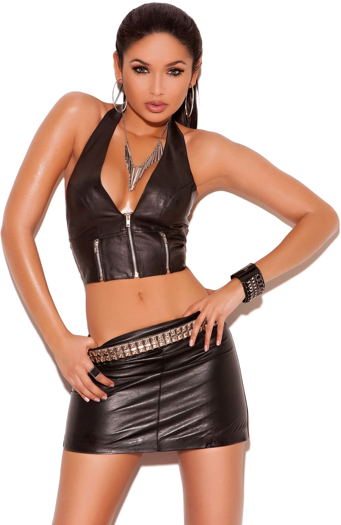 L4113 Leather top - Sexylingerieland  - 1
