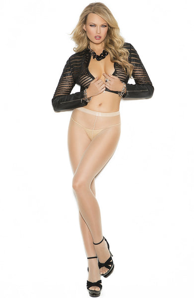 EM-1136 Sheer cuban foot pantyhose - Sexylingerieland