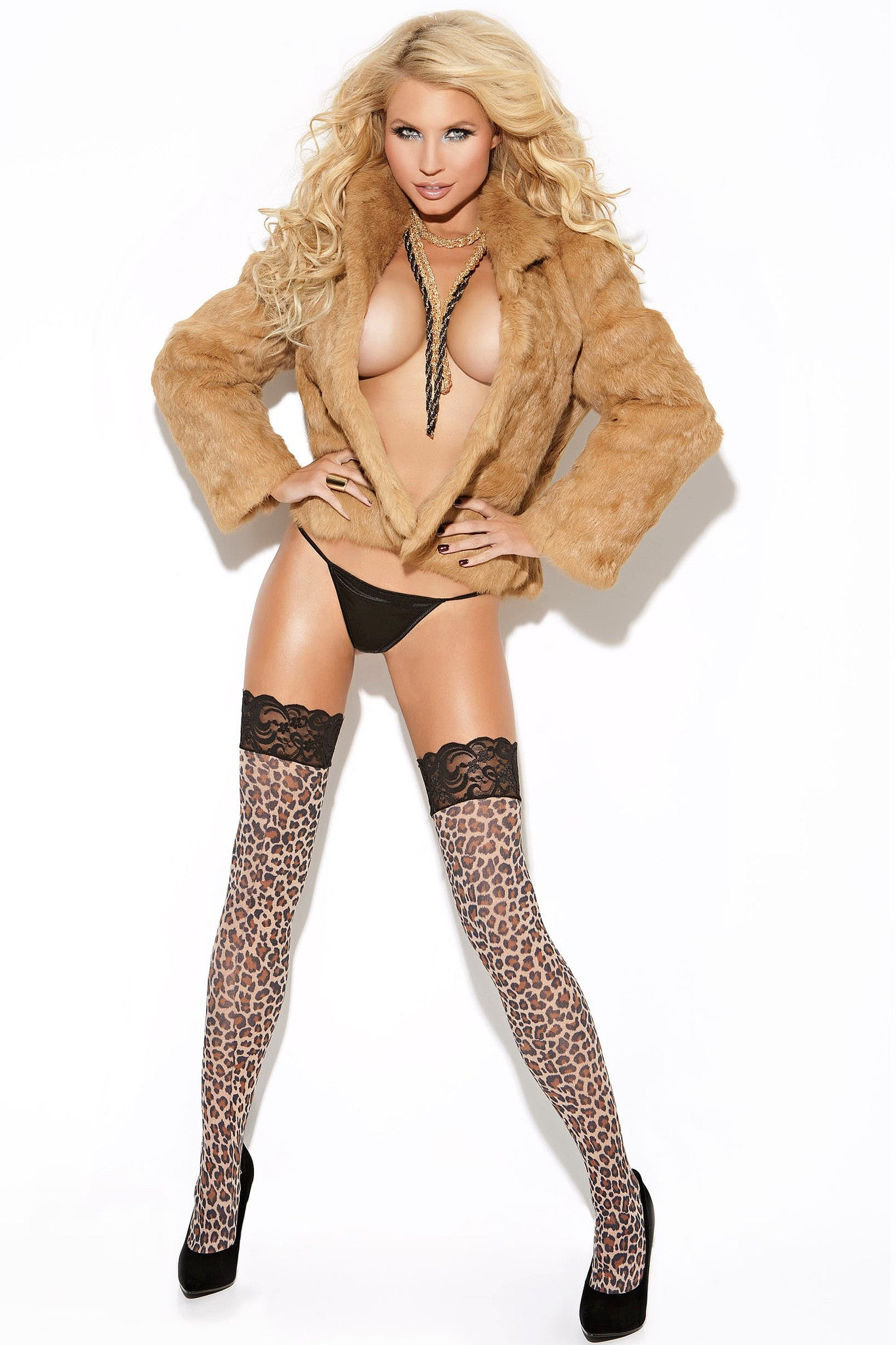EM-8619 Leopard stockings - Sexylingerieland  - 2