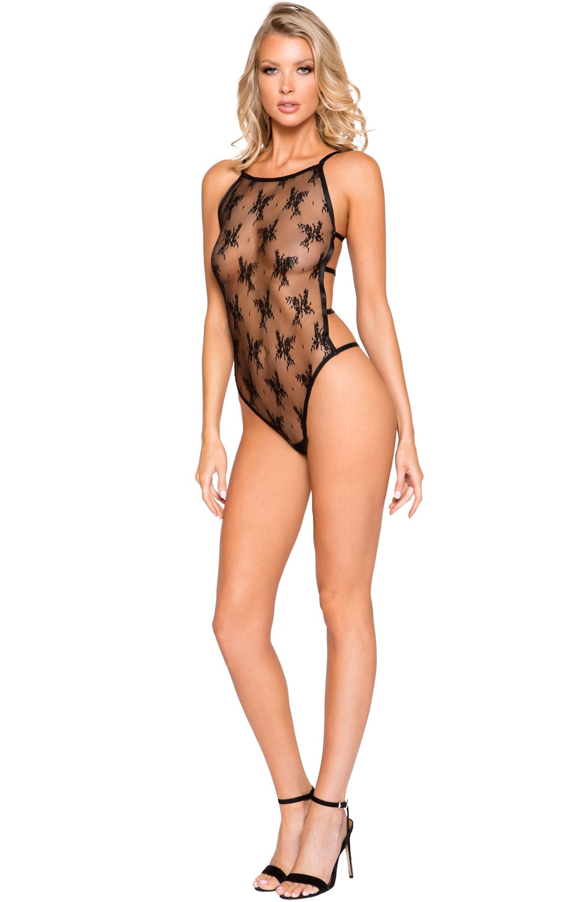 Hot black lace teddy - Sexylingerieland