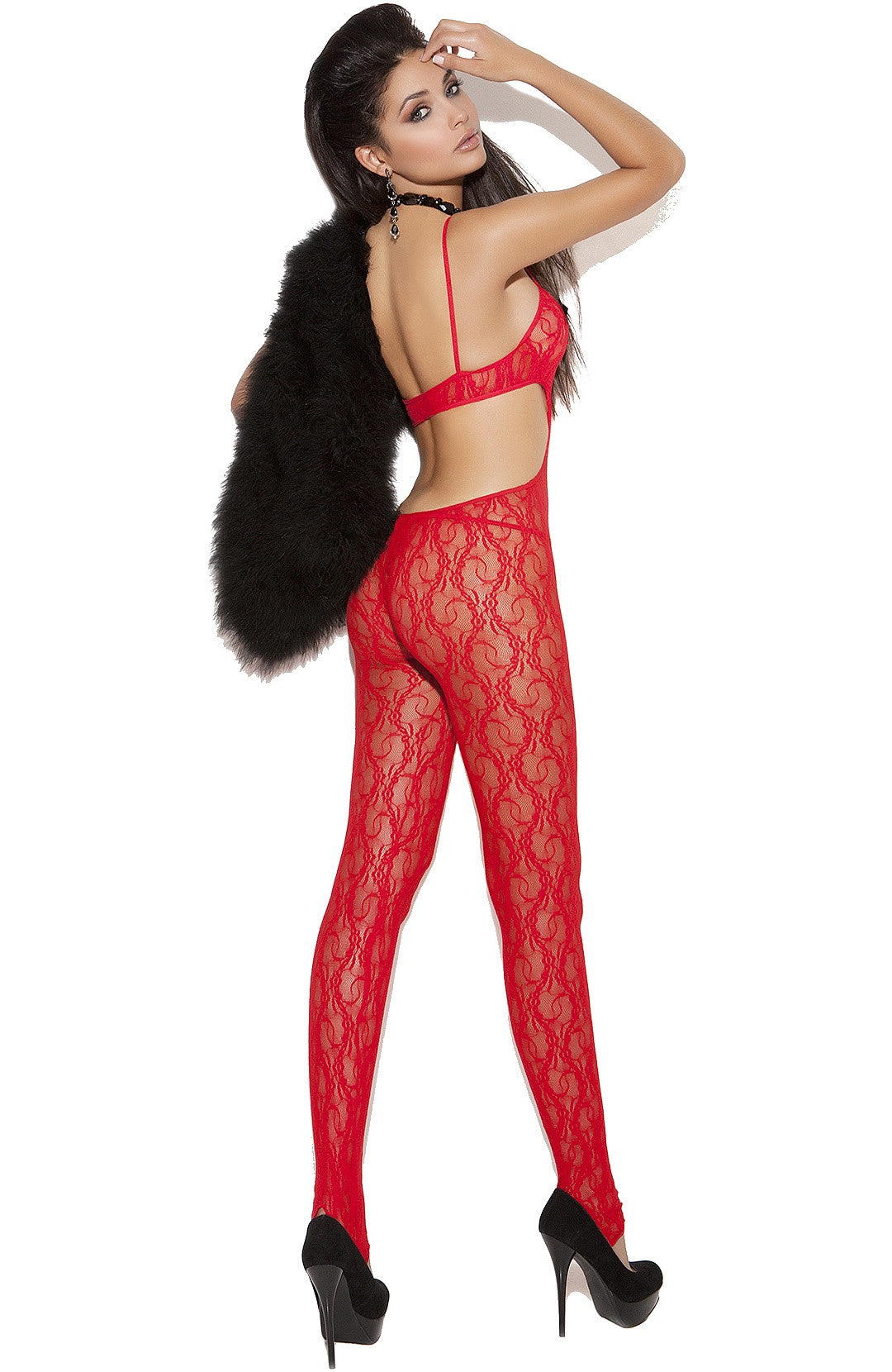 EM-8703 Red bodystocking - Sexylingerieland  - 2