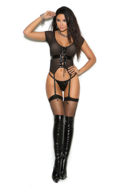 V2266 Black fishnet lingerie