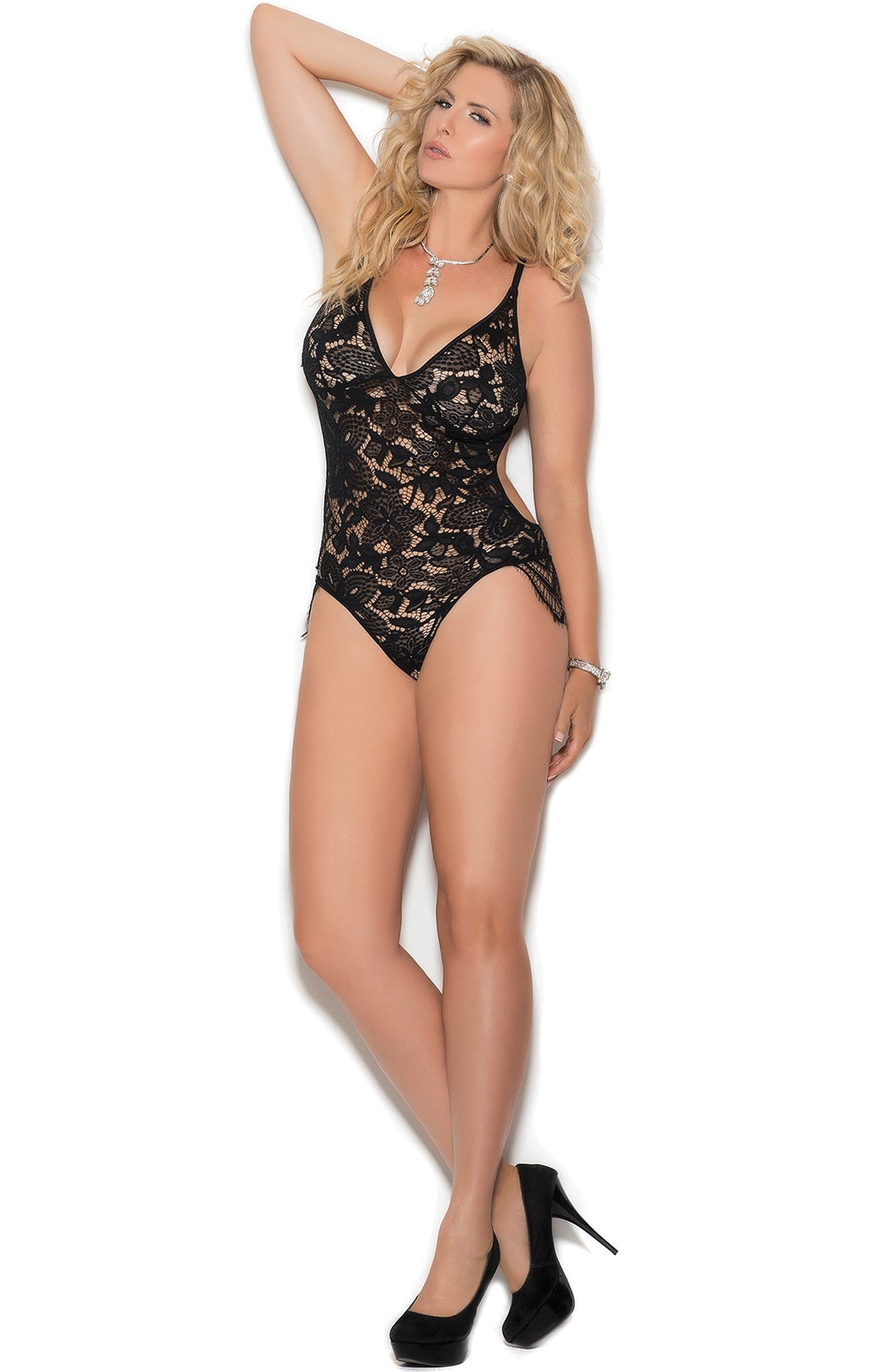 Luxury black bodysuit - Sexylingerieland