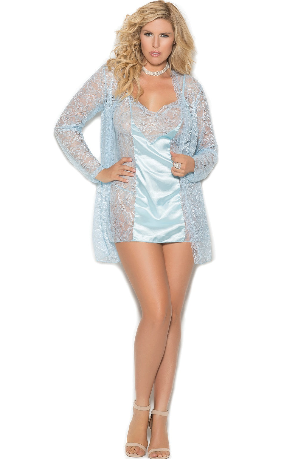 Glamour baby blue babydoll