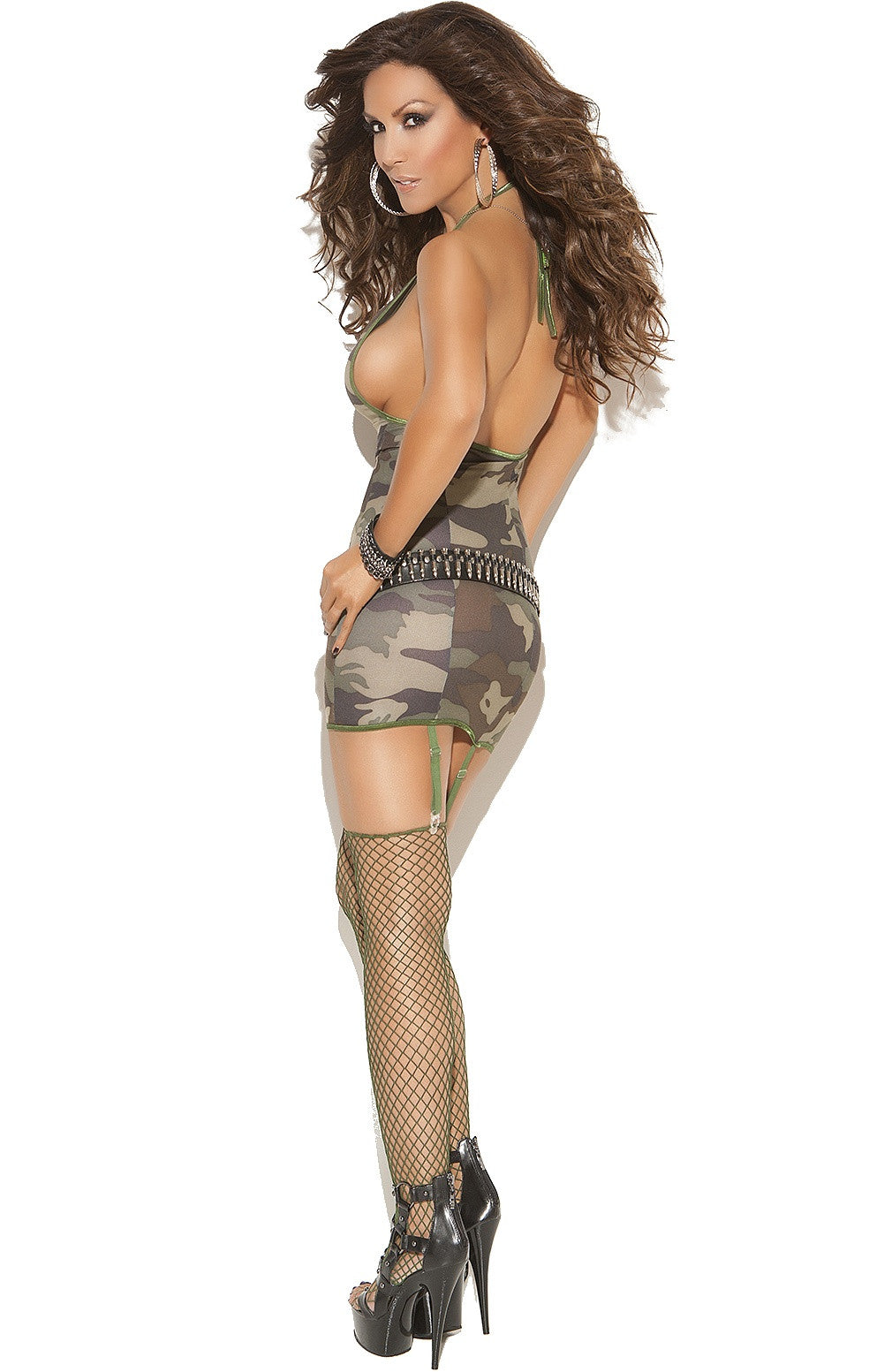 EM-8766 CAMOUFLAGE Mini dress - Sexylingerieland  - 2