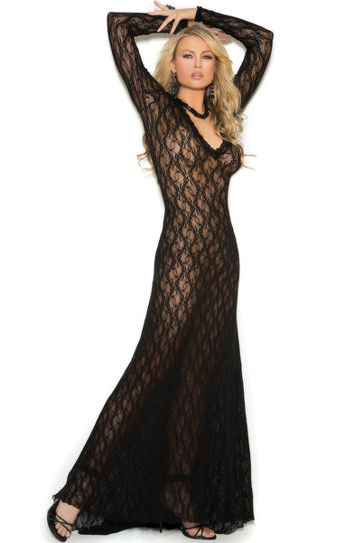 EM-1949 Luxury black gown - Sexylingerieland