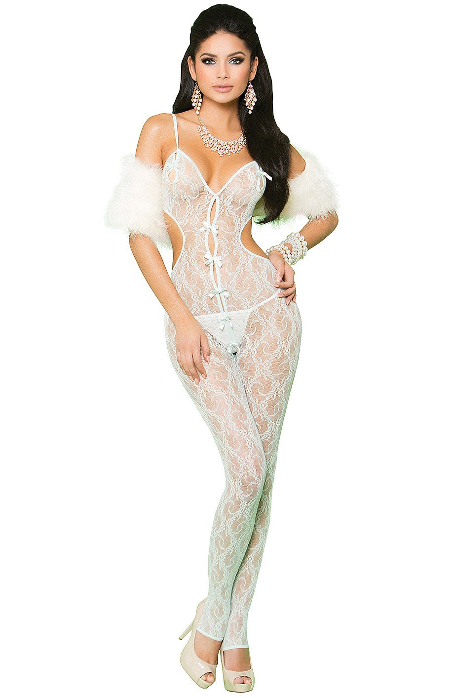 EM-81227 Glam mint green bodystocking - Sexylingerieland  - 1