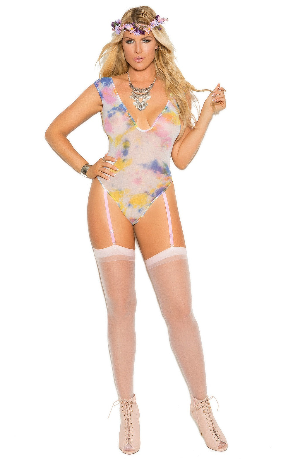 EM-82021 Sexy colorful teddy - Sexylingerieland