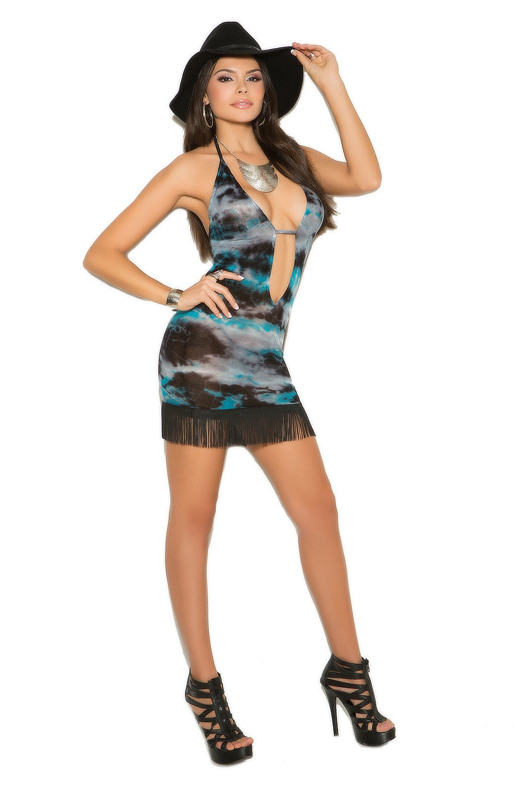 EM-82006 Colorful party dress - Sexylingerieland  - 1