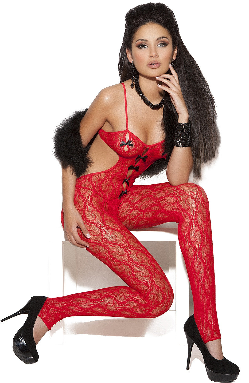 EM-8703 Red bodystocking - Sexylingerieland  - 1