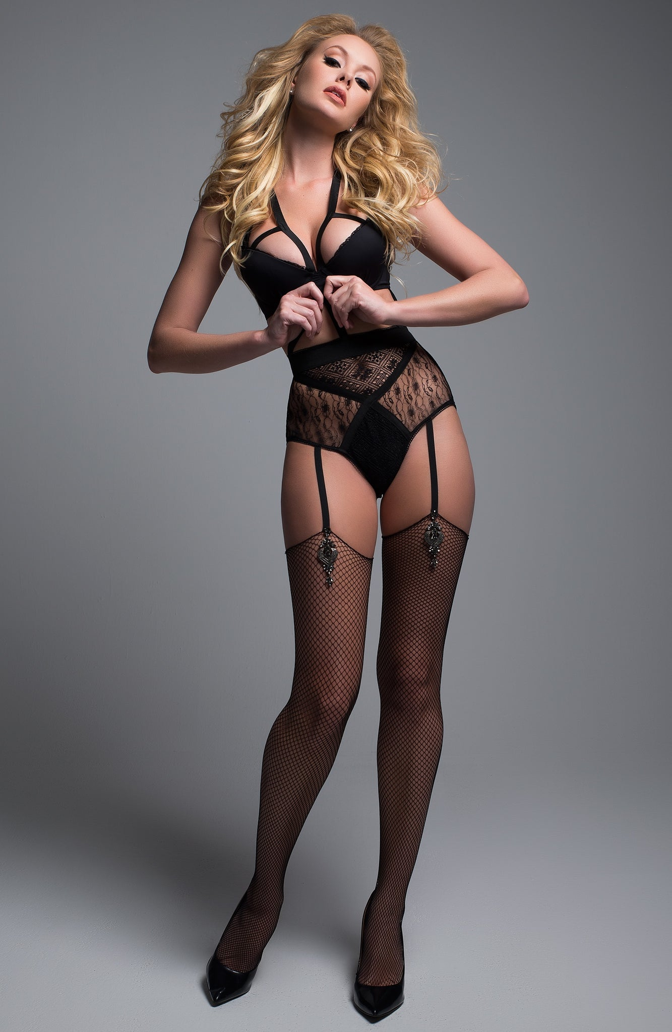 Angel of love Black bodysuit - Sexylingerieland