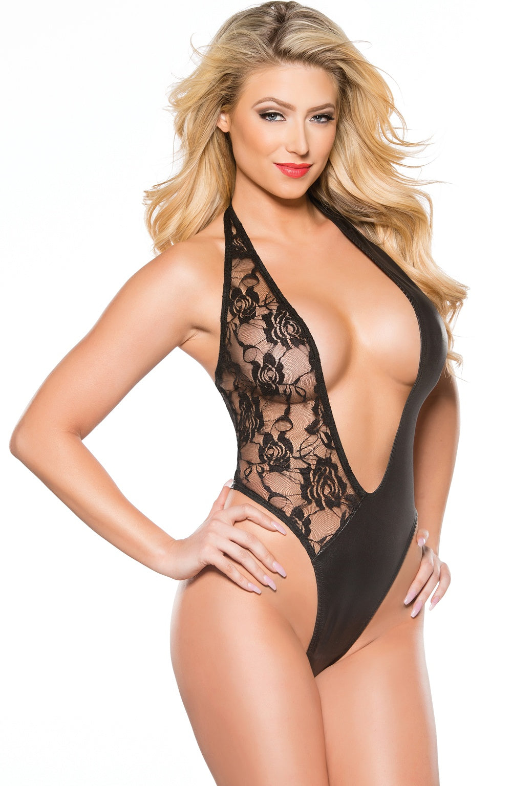 Girls black lace teddy - Sexylingerieland