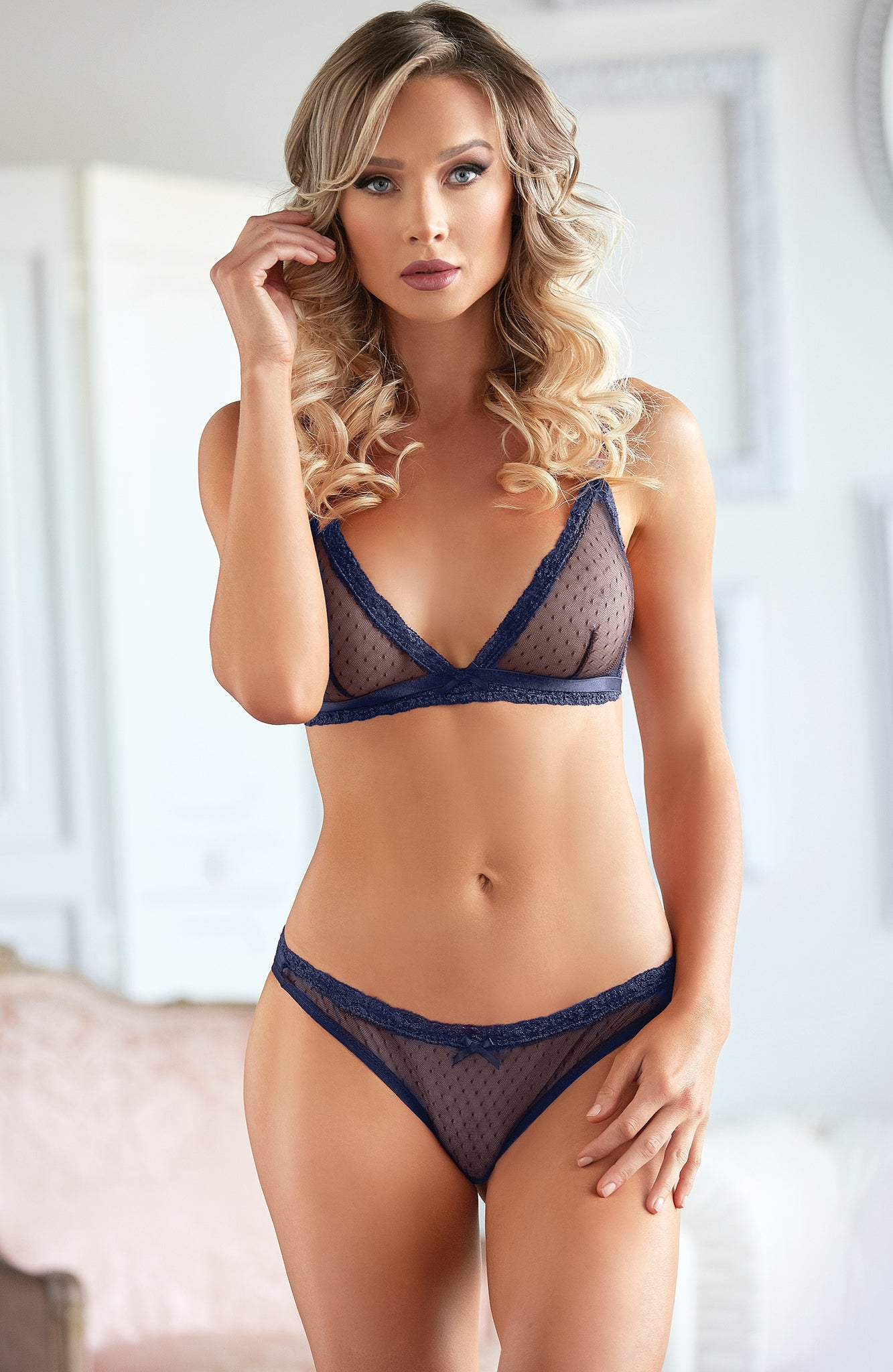 Azure bralette and panty - Sexylingerieland
