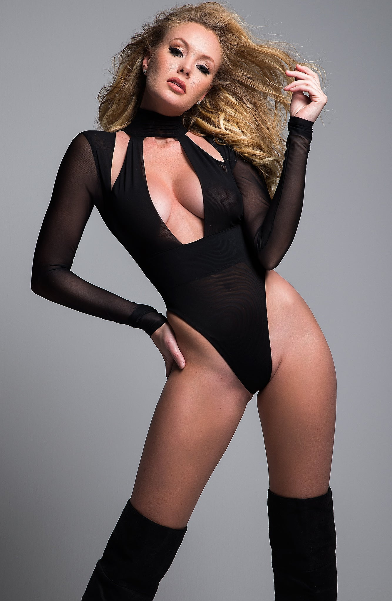 Just a kiss sheer bodysuit - Sexylingerieland