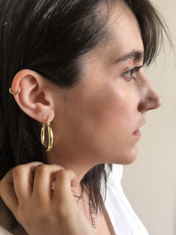 Chunky Hoop Earrings (Pair)