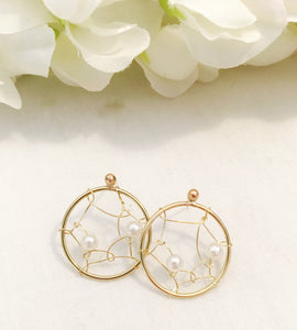 Pearl Wire Earrings