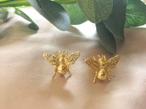 Bee Stud Earrings (Pair)