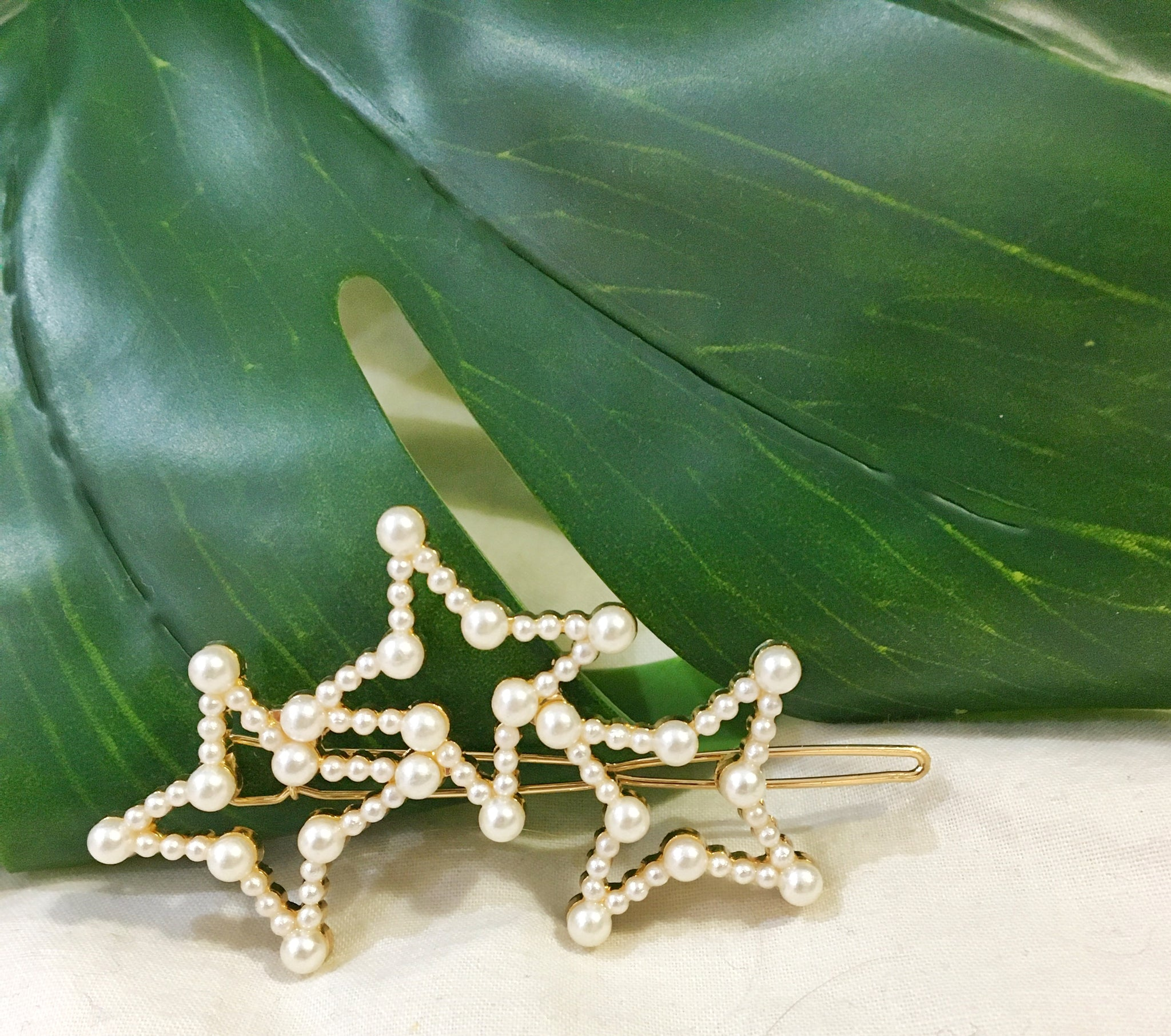 Trio of Stars Hair clip