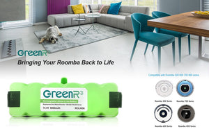 GreenR3 6000mAh 6.0Ah Lithium Battery for iRobot Roomba 80501
