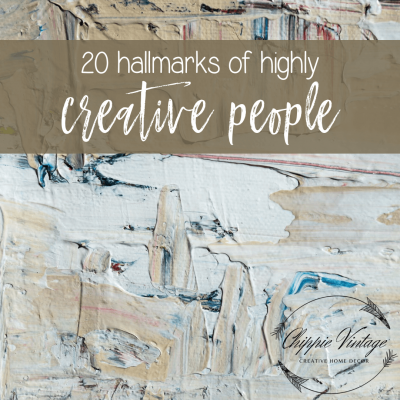 20 hallmarks of highly creative people