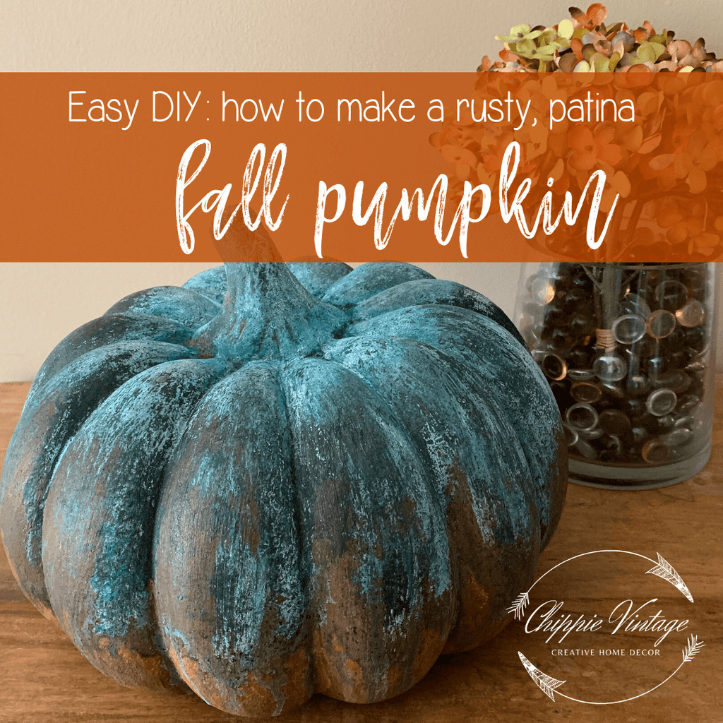 Easy DIY: How to make a rusty, patina fall pumpkin