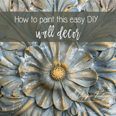 How to paint this easy DIY wall decor