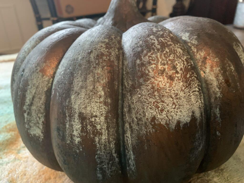 Rusty patina pumpkins