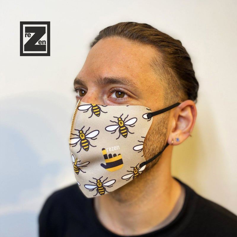Bundle of Five: Mcr Bee Face Mask rezen
