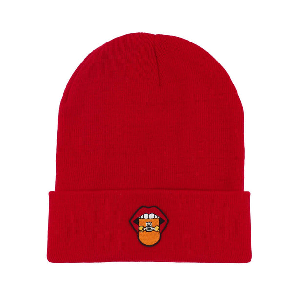 Tasty Skate - Red & Orange Beanie rezen Red