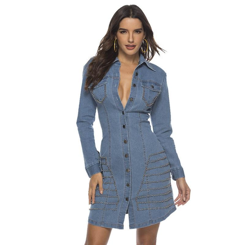 Fashion Denim Slim Dress