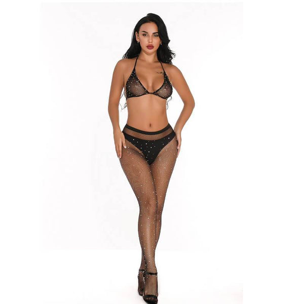 10 Colors Bra And Panty Sets - Black Color