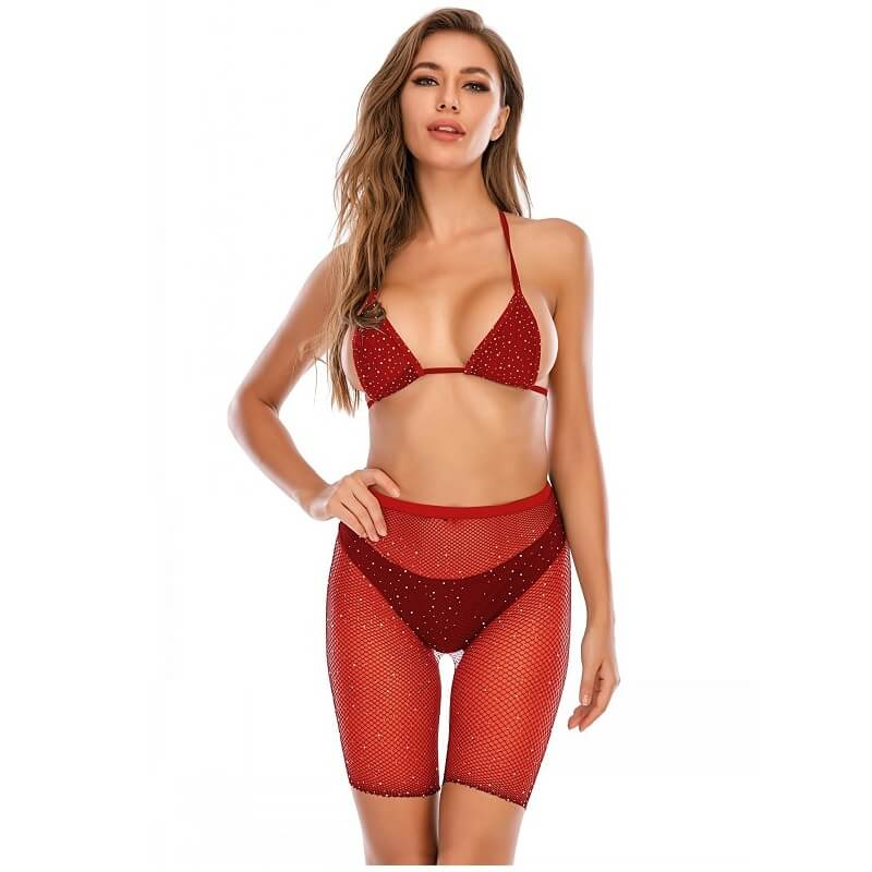 12 Colors Bra And Underwea -Red Color