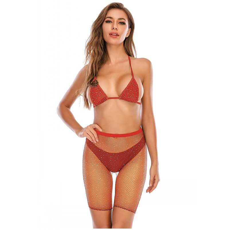 12 Colors Bra And Underwea -Orange Color