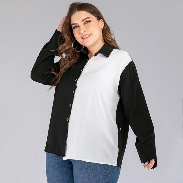 Black And White Blouse Plus Size