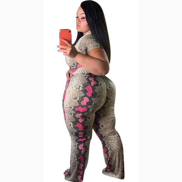 Plus Size Bodycon Two Piece Set