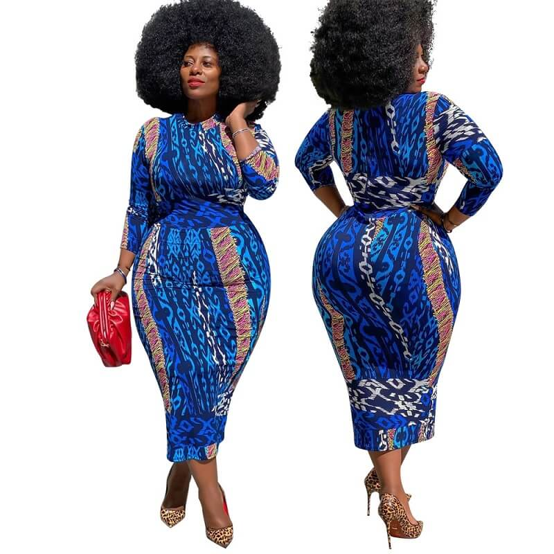 Curvy Girl Dresses - blue main picture