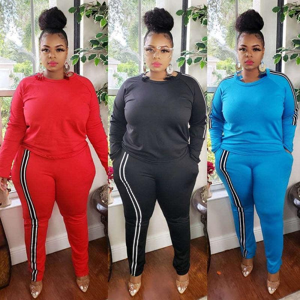Plus Size 2 Piece Jogger Set - main picture