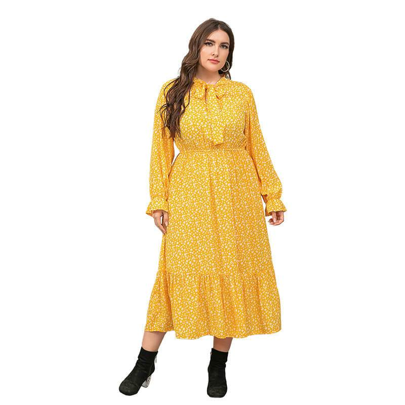 Plus Size  Big Spotted Dress