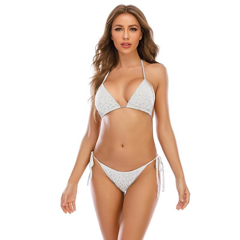 11 Colors Sexy Bra Panty Sets - White Color