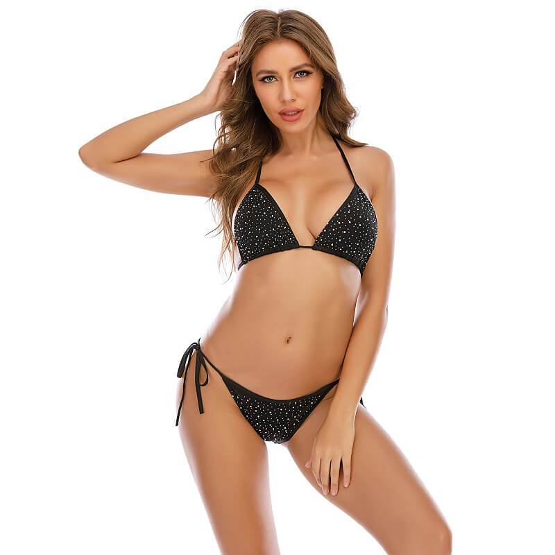 11 Colors Sexy Bra Panty Sets - Black Color