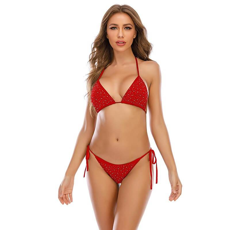 11 Colors Sexy Bra Panty Sets - Red Color