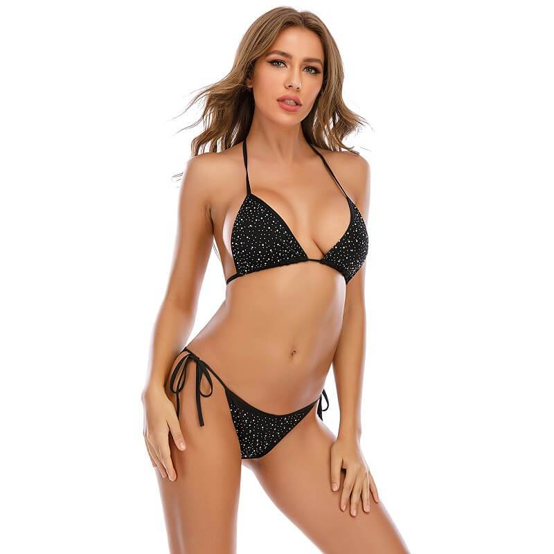 Sexy Bra Panty Sets - Black Color - Right Side