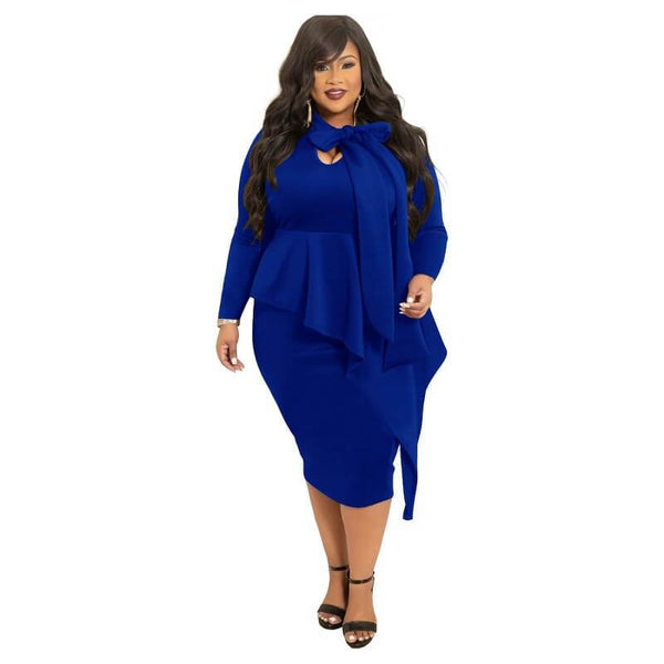 plus Size Mother Of The Bride Dresses - blue color