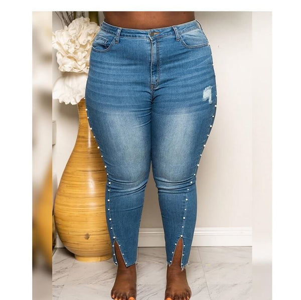 Plus Size Broken Jeans