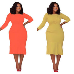 Two Colors Plus Dresses - two colors