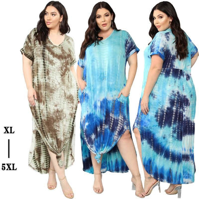 Oversized Tie-dye Loose Dress - main picture