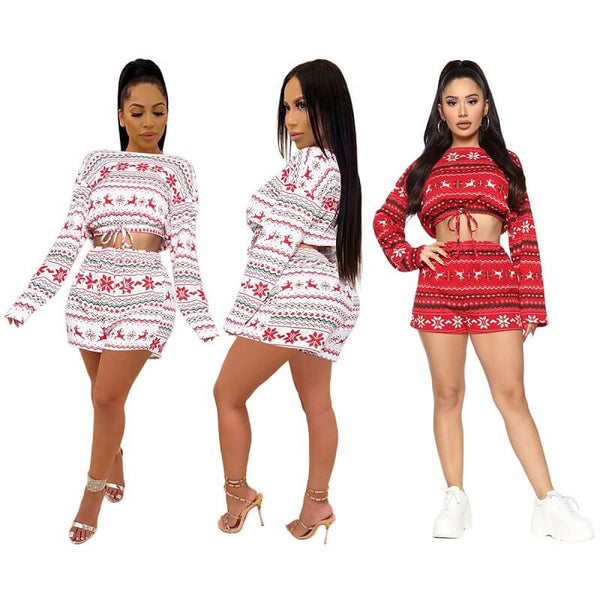 Christmas Print Navel Set