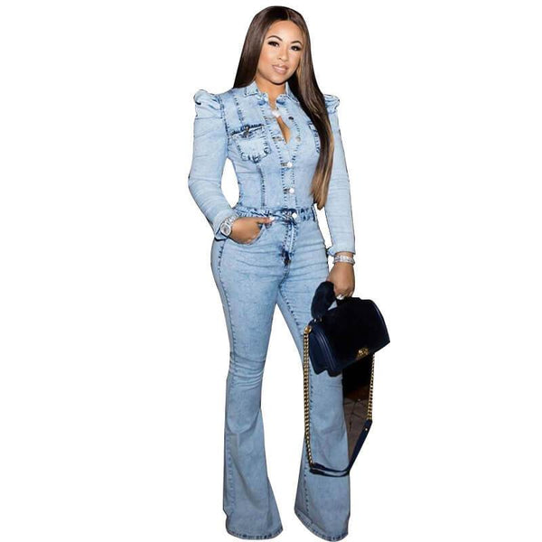 Plus Size Denim Jumpsuit Jumpsuit